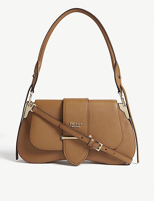 7c7c2f8a69b PRADA Sidney leather saddle bag