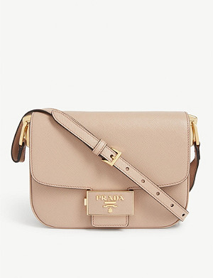 PRADA Textured leather shoulder bag