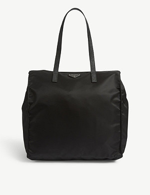 PRADA Logo nylon shopper