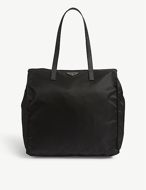 7f139891dbe2 Cahier leather shoulder bag. £2,090.00. PRADA Logo nylon shopper