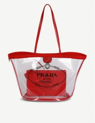 PRADA Plexiglass tote bag