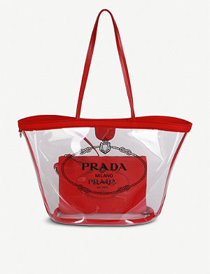 5c6a0bbc849b PRADA Plexiglass tote bag
