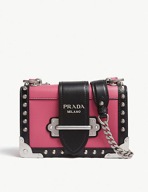 c41132693615e PRADA - Cahier small leather shoulder bag