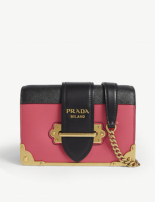PRADA Cahier small leather shoulder bag