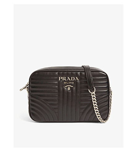52c17f2a3fd1 ... PRADA Diagramme leather shoulder bag (Black. PreviousNext