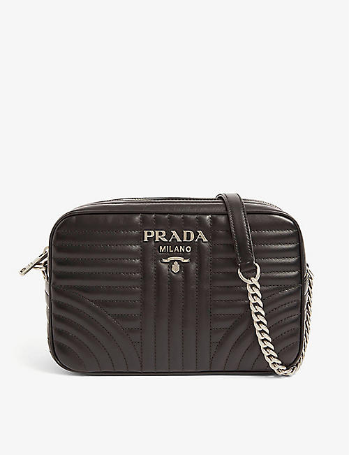 f6e9f6fcc606 PRADA Diagramme leather shoulder bag