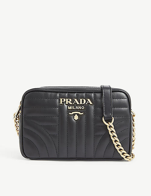 PRADA Diagramme leather camera bag