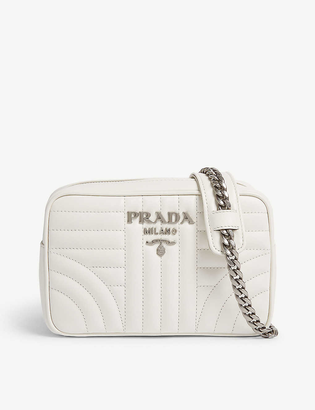 f7356ef47ca9 PRADA - Diagramme leather shoulder bag | Selfridges.com