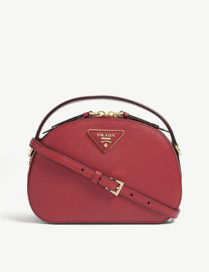 PRADA Odette saffiano leather cross-body bag