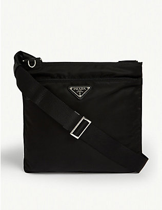 PRADA: Triangle-logo nylon messenger bag