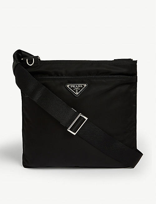 PRADA Triangle-logo nylon messenger bag