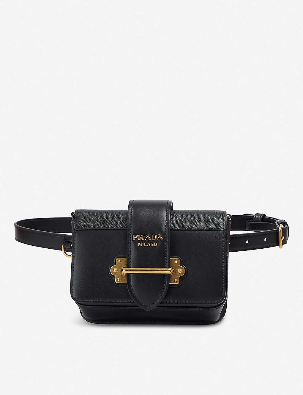 34749fed2dbd PRADA - Cahier logo-plaque leather belt bag | Selfridges.com