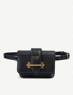 3a9236242ed448 PRADA - Diagramme quilted leather bum bag | Selfridges.com
