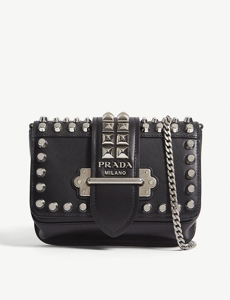 064fbdc9 PRADA - Cahier leather belt bag | Selfridges.com
