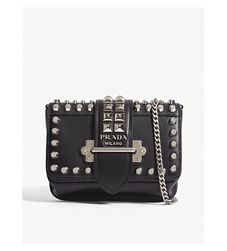4278374995d9 PRADA Cahier leather belt bag (Black silver