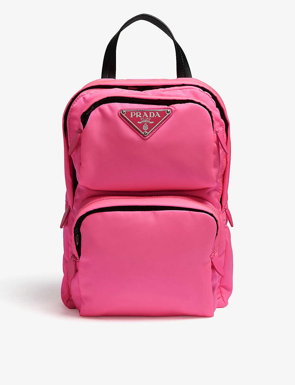 bddf0b7af14c PRADA - One-shoulder nylon backpack | Selfridges.com