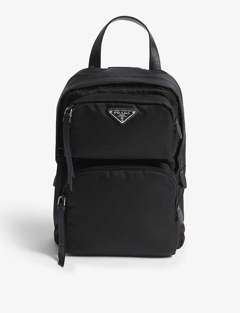 6db5b2a3008413 PRADA - One-shoulder nylon backpack   Selfridges.com