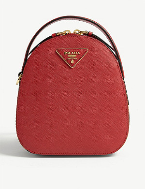 PRADA Mini leather backpack
