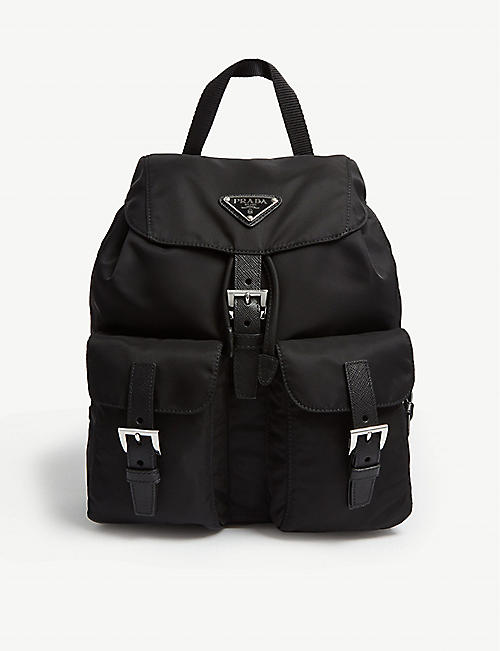 d7e678c6f32f PRADA Logo small nylon backpack
