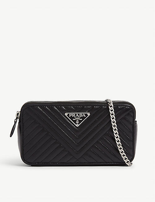 487fb4fbf02a PRADA Quilted leather wallet-on-chain