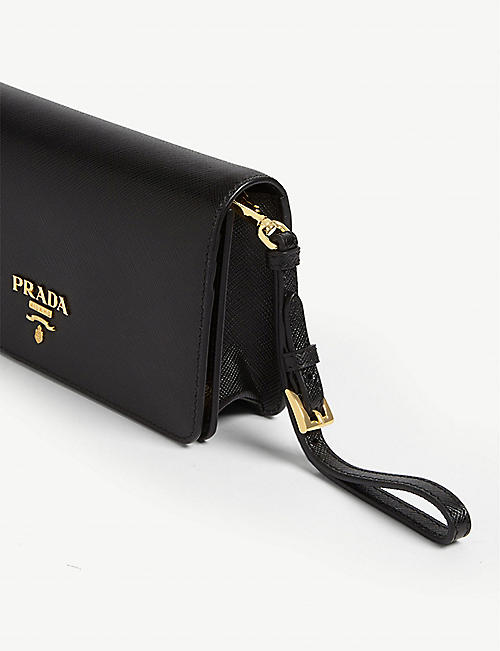 PRADA Classic leather wallet on chain
