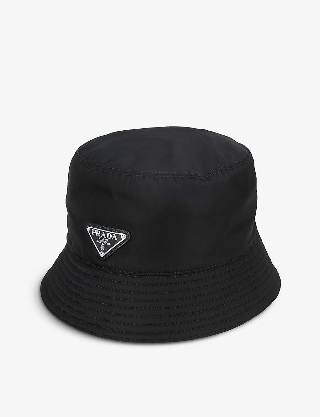 23407e416db99 PRADA - Logo nylon bucket hat