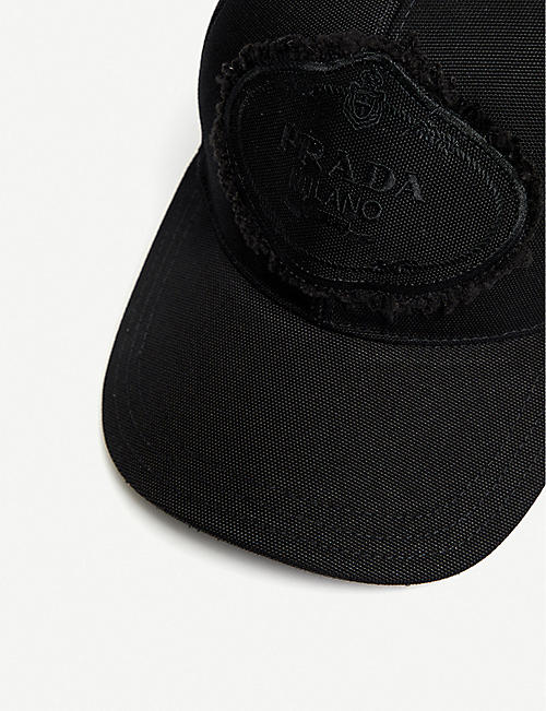PRADA Logo-embroidered nylon cap