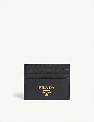 PRADA: Classic Saffiano leather card holder