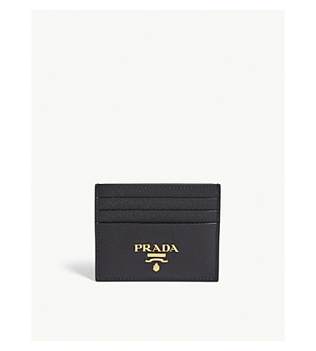 dab5909a29ef PRADA - Classic Saffiano leather card holder | Selfridges.com