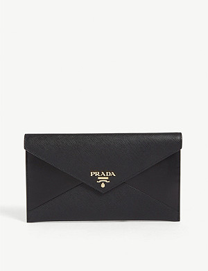 PRADA Leather envelope wallet
