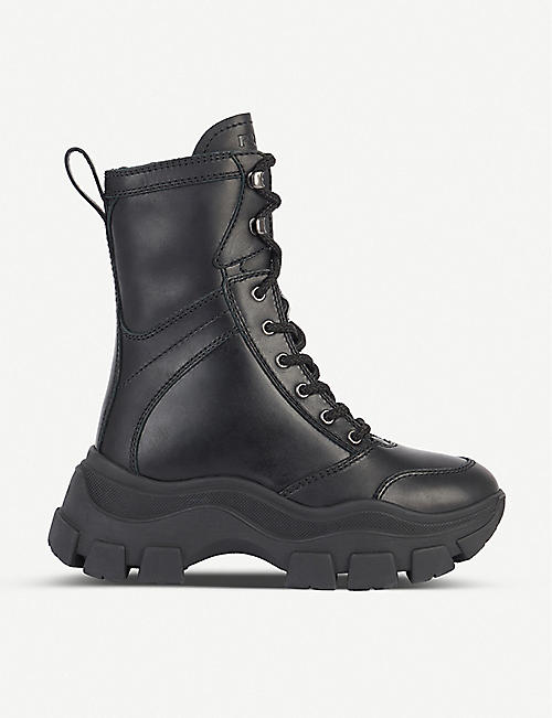 PRADA Pull Up leather boots