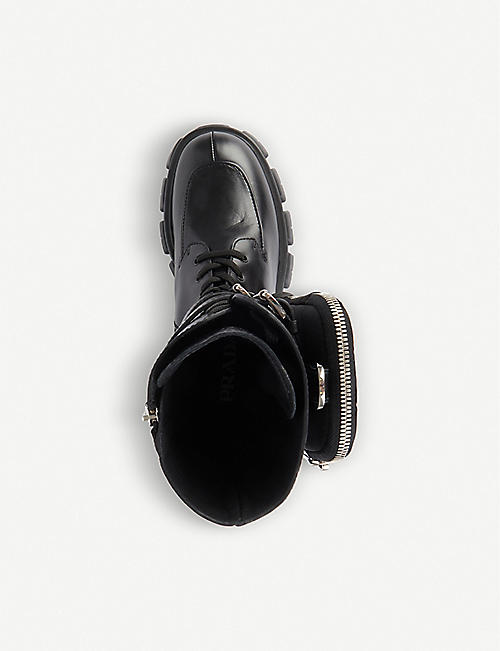 PRADA Monolith leather boots