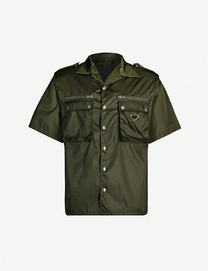 PRADA Camp-collar boxy-fit gabardine-nylon shirt