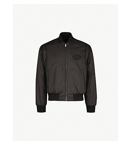 de50bb450 PRADA - Logo-badge shell bomber jacket | Selfridges.com
