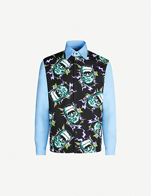 PRADA Frankenstein-print relaxed-fit cotton shirt