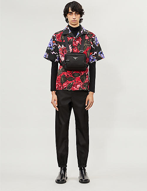PRADA Graphic-print oversized cotton shirt
