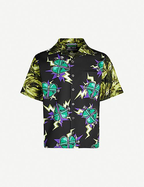 da01a82db PRADA Heart-print relaxed-fit cotton shirt