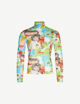 PRADA Printed stretch-jersey top