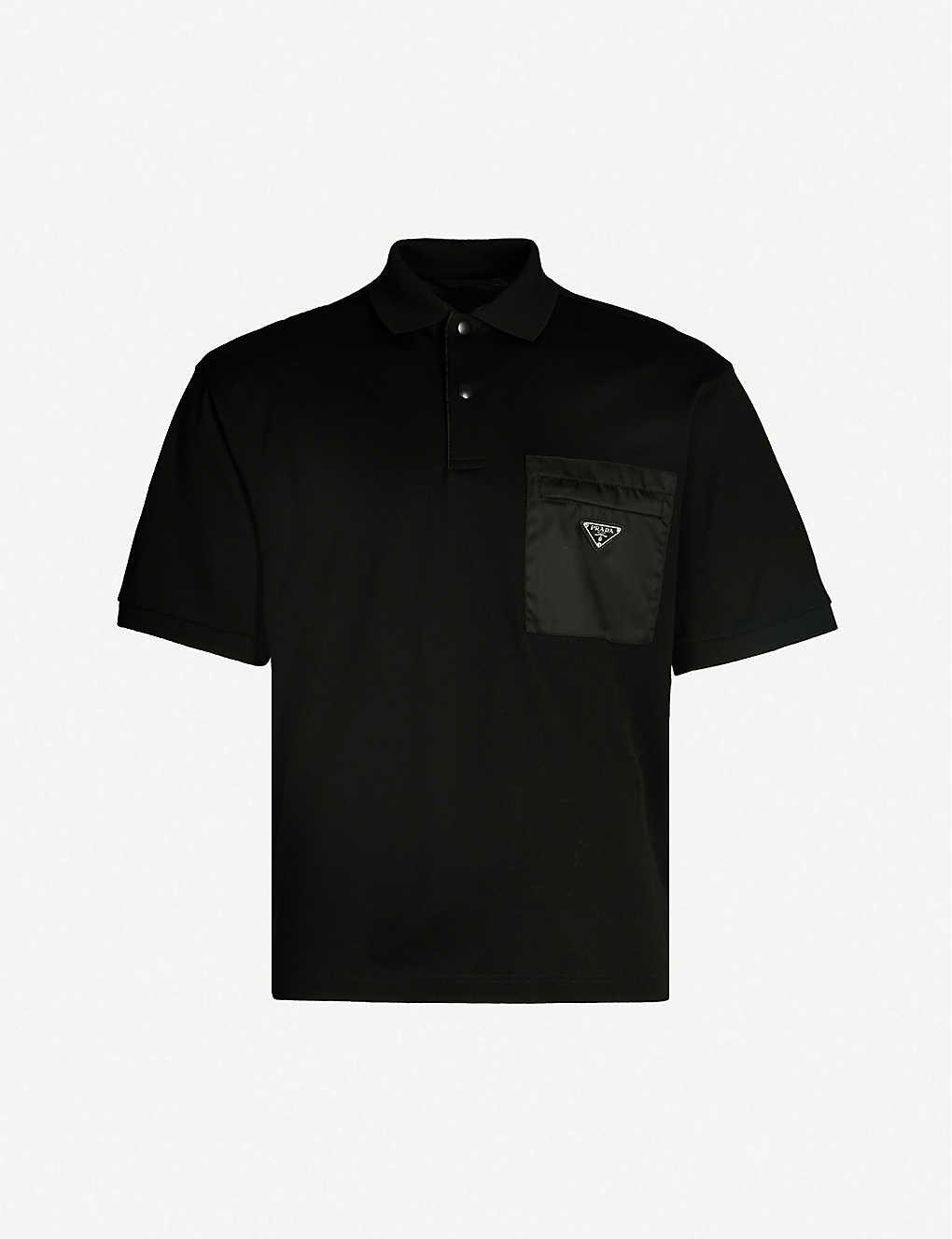 f251d2e4 PRADA - Logo-patch cotton-piqué polo shirt   Selfridges.com