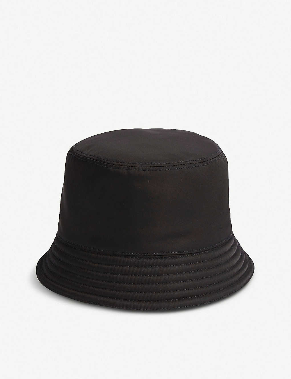 84d97b2c91c7e PRADA - Logo-plaque nylon bucket hat