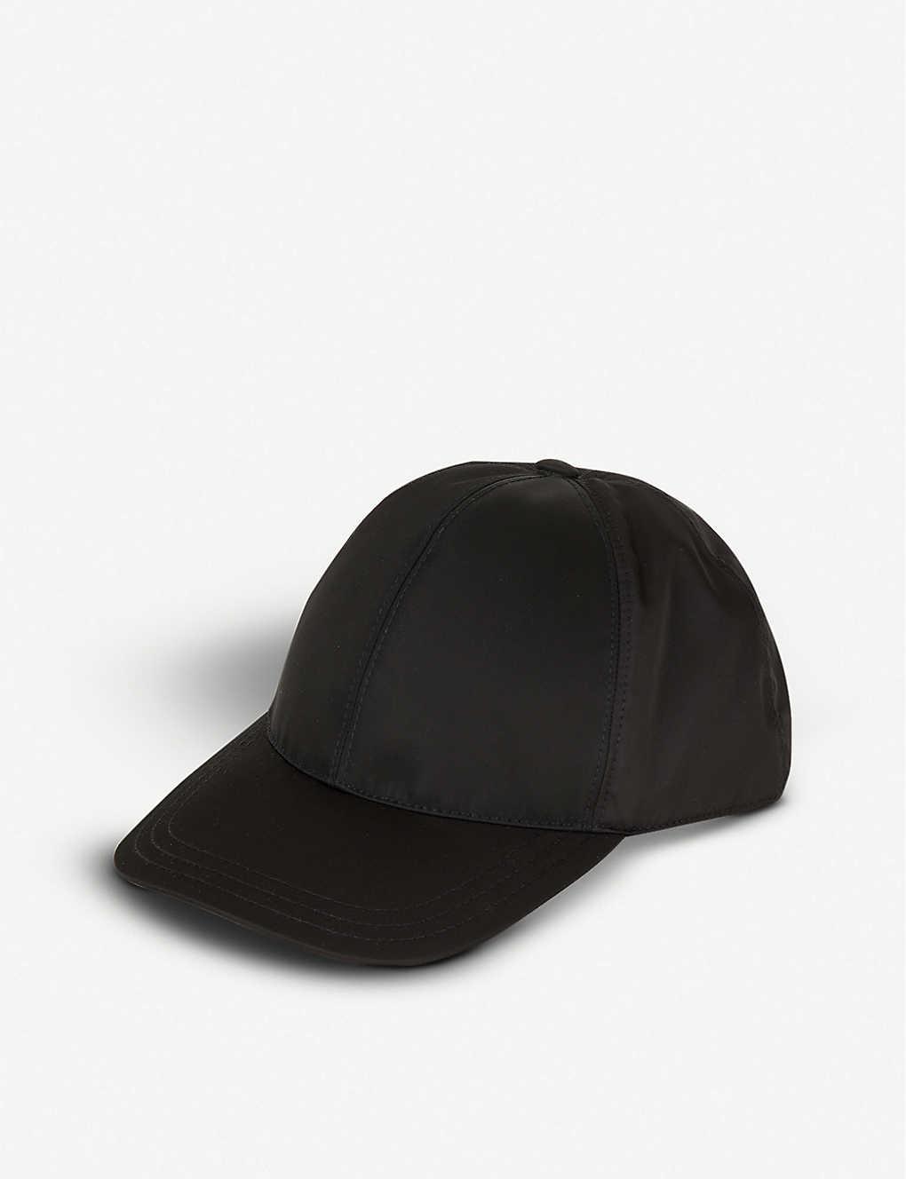 e4a027da PRADA - Logo-plaque nylon baseball cap | Selfridges.com