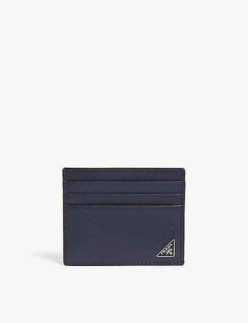 PRADA Saffiano leather card holder cd5111ffb039