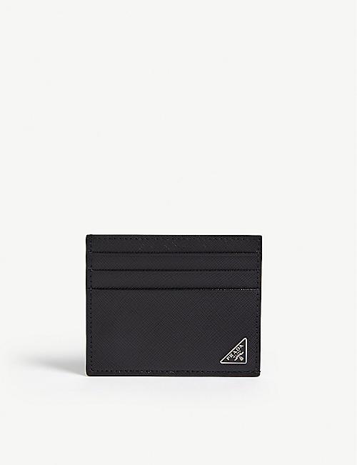 5b2b6c4a80 PRADA Saffiano leather card holder