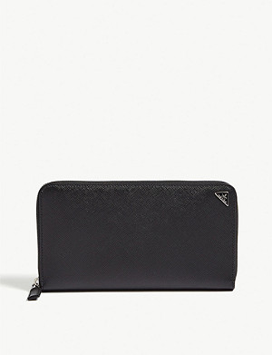PRADA Large Saffiano leather travel wallet