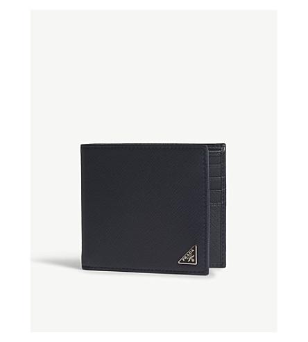 545ae1c7830e PRADA Saffiano leather billfold wallet (Baltic+blue