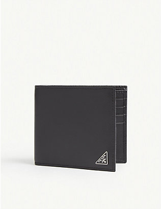 PRADA: Saffiano leather billfold wallet