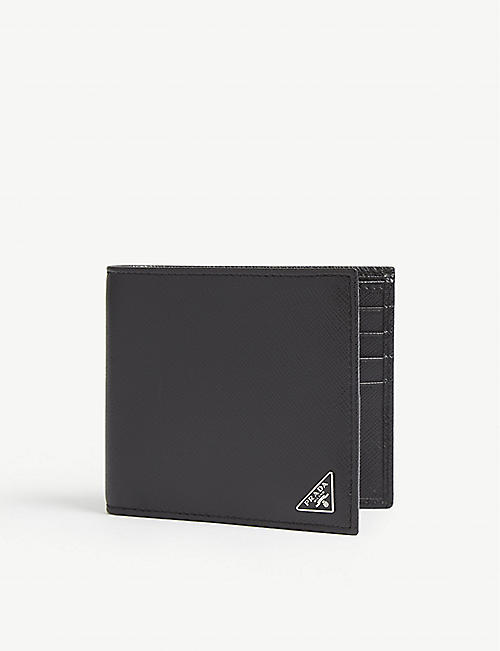 c4871312fc0545 PRADA Saffiano leather billfold wallet