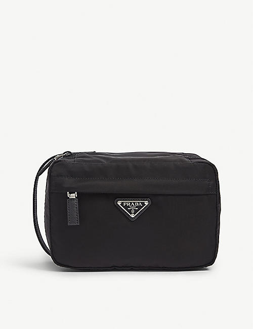 5fb525616f90 PRADA Triangle logo nylon washbag