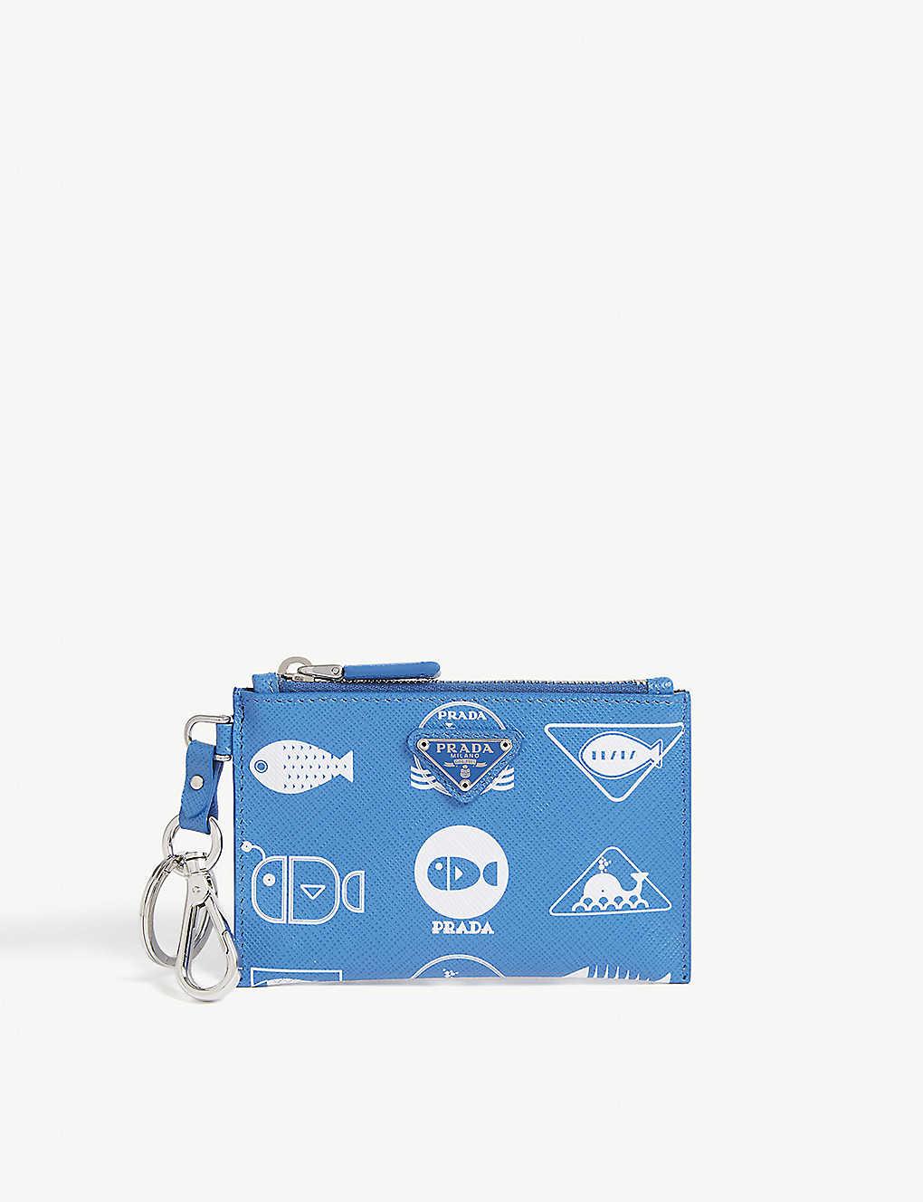 6c50eb5f06af PRADA - Whale print leather zip purse | Selfridges.com
