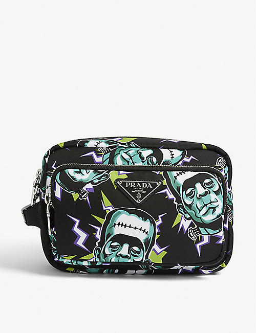 PRADA Frankenstein nylon washbag